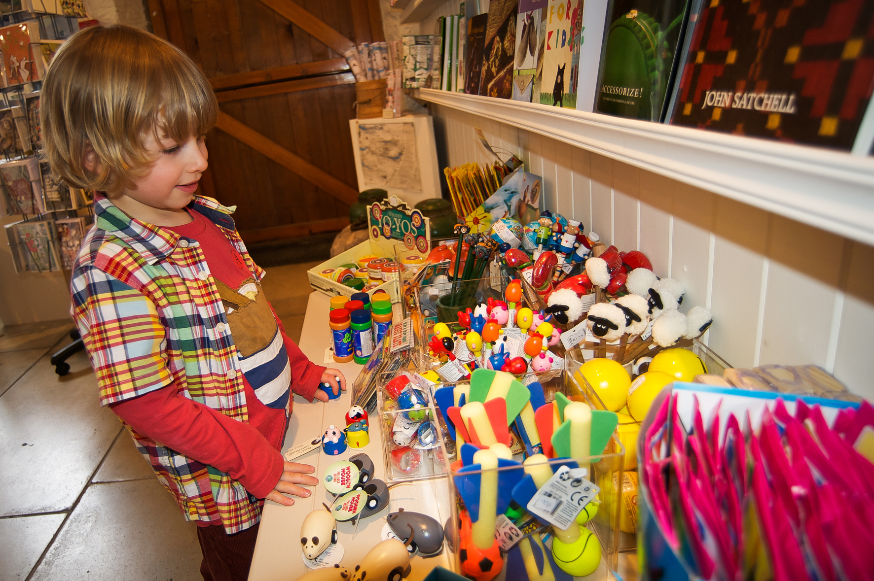 The museum shop at the Museum of Lakeland Life and Industry stocks local craftsmakers and books and traditional and modern toys and games.