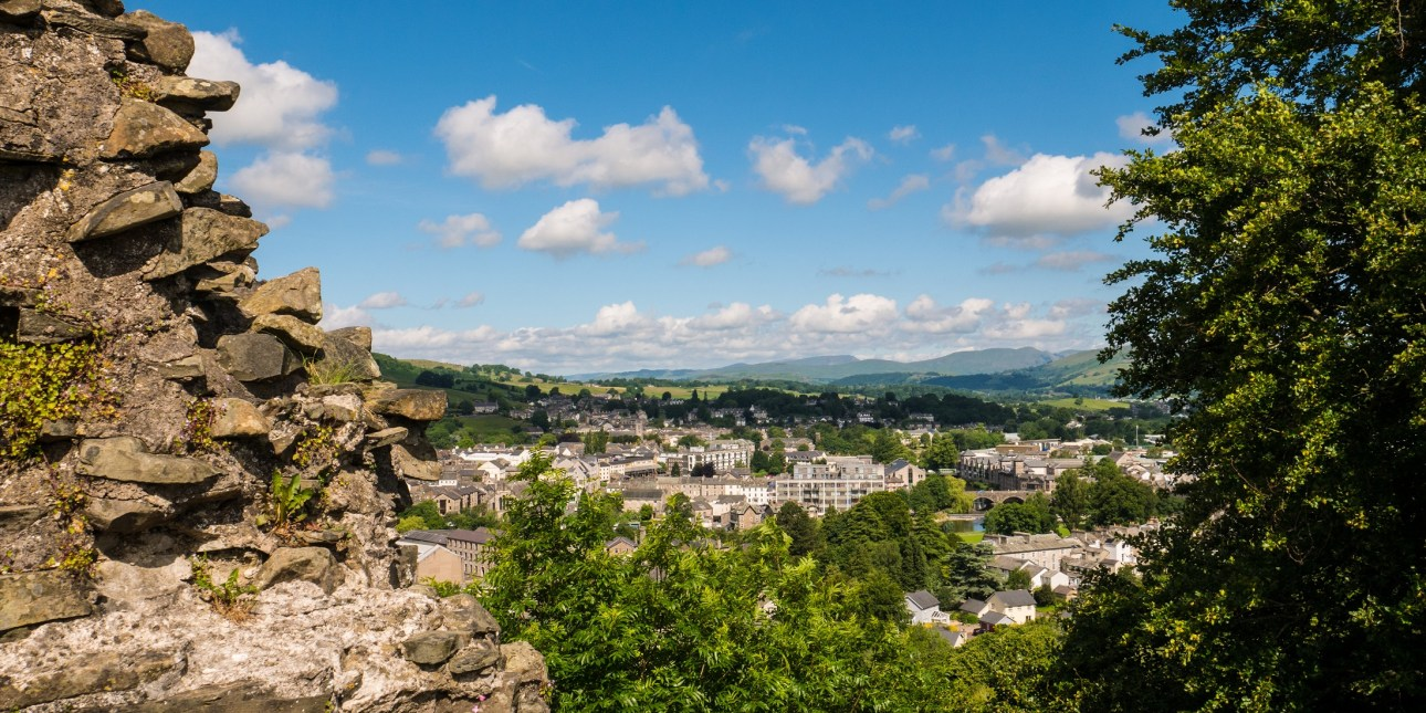 View over Kendal from Kendal Castle