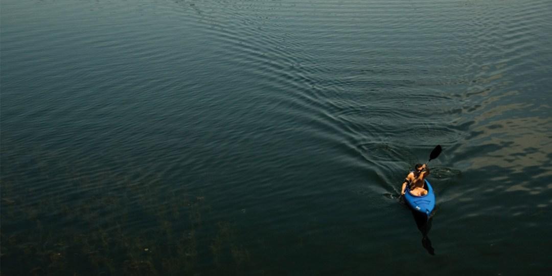 Kayaker on Lake of the Isles
