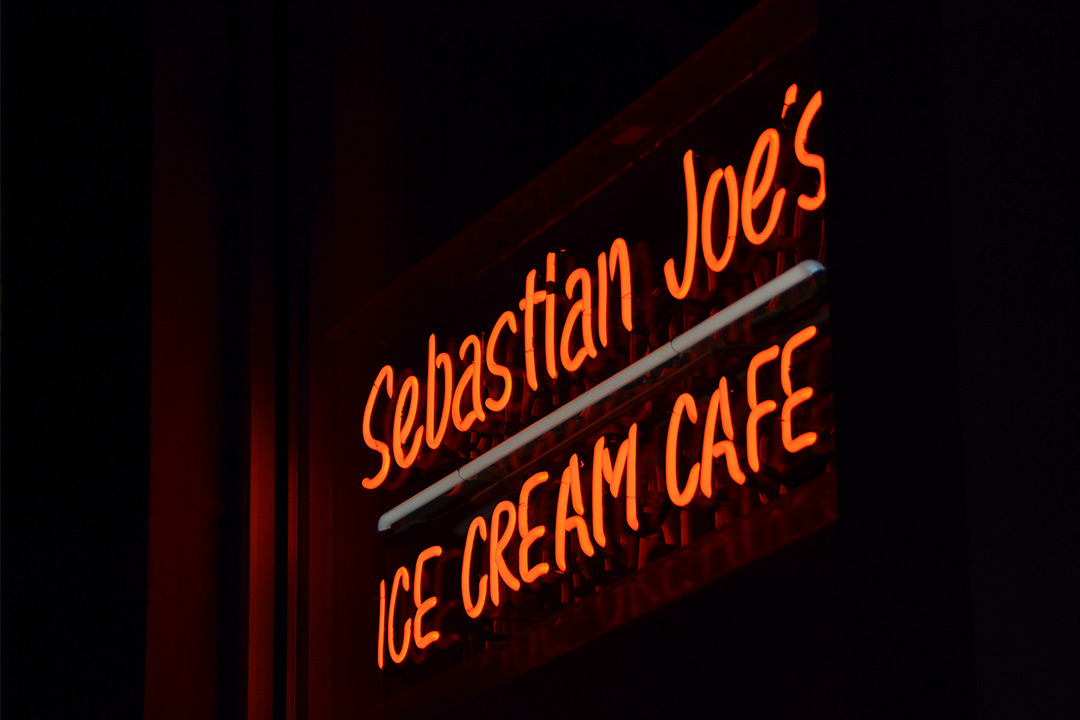 Sebastian Joes Ice Cream Cafe Neon Sign