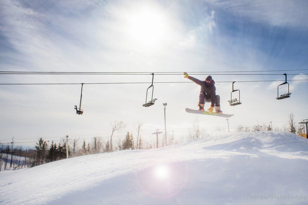 Snowboarder on Spirit Mountain