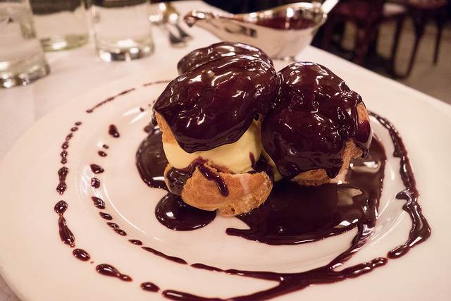 "Chocolate Profiterole at Spoon & Stable. Image by Ralph Daily <a href=""https://flic.kr/p/r1hh1w"" target=""_blank""> Ralph Daily/flickr</a>"