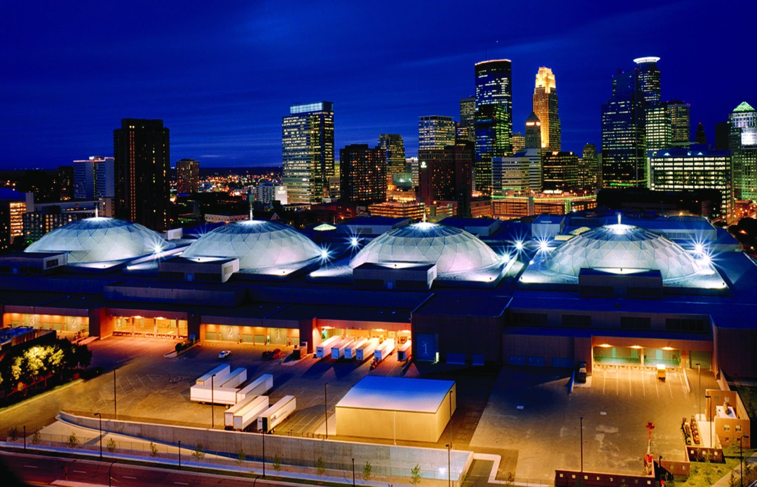 "Aerial View of the Minneapolis Convention Center's skydomes. Image by <a href=""http://www.minneapolis.org/"" target=""_blank"">Meet Minneapolis</a>"
