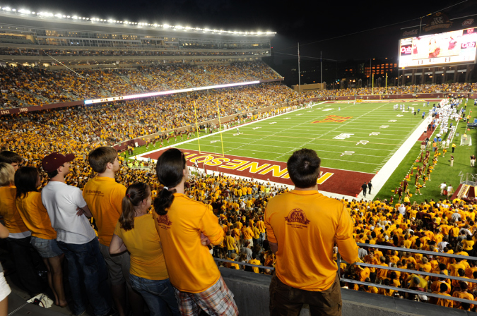 "Gopher Football at TCF Bank Stadium. Image by <a href=""http://www.minneapolis.org/"" target=""_blank"">Meet Minneapolis</a>"