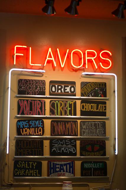 "Ice Cream Flavors at Sebastian Joe's. Image by <a href=""https://flic.kr/p/acau9C"" target=""_blank""> Janelle/flickr</a>"