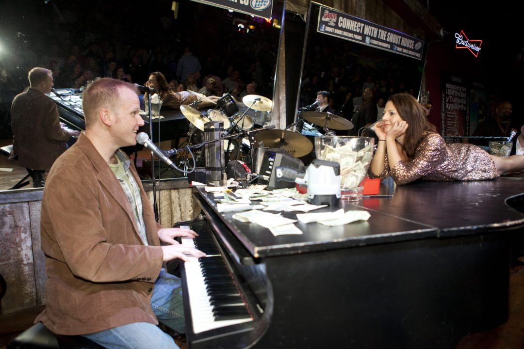 """Serenade Time. Image by <a href=""""http://www.shouthousempls.com/mpls/default.asp"""" target=""""_blank"""">Shout House Dueling Pianos</a>"""