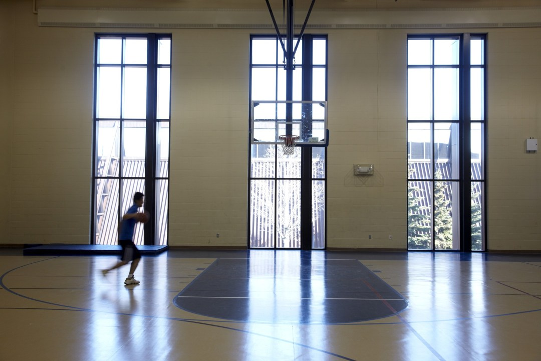 Indoor Basketball Court. Image by Todd Buchanan/Greenspring Media
