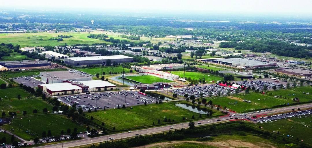 """Aerial View of the National Sports Center. Image by <a href=""""http://www.nscsports.org/"""" target=""""_blank"""">National Sports Center</a>"""