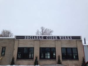 Sociable Cider Werks exterior in winter