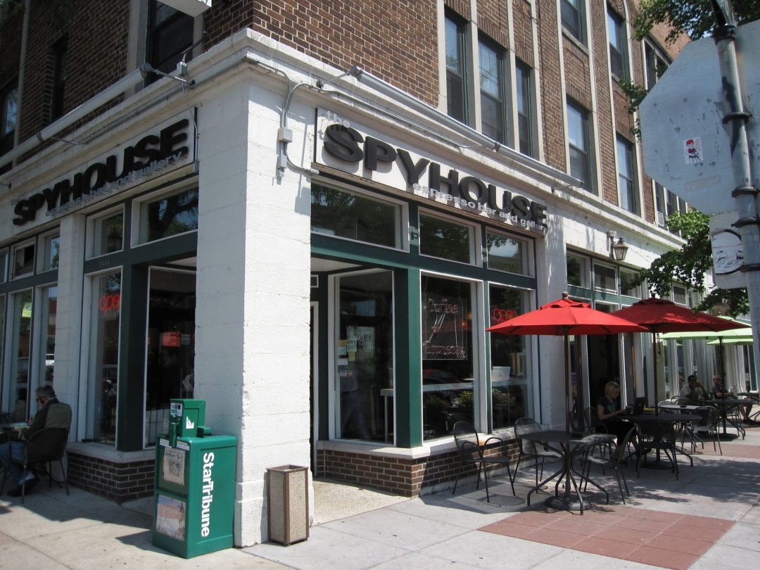 """Spyhouse Coffee Exterior. Image by <a href=""""https://commons.wikimedia.org/wiki/File%3ASpyhouse_Coffee_Nicollet.jpg"""" target=""""_blank"""">edkohler/Wikimedia</a>"""