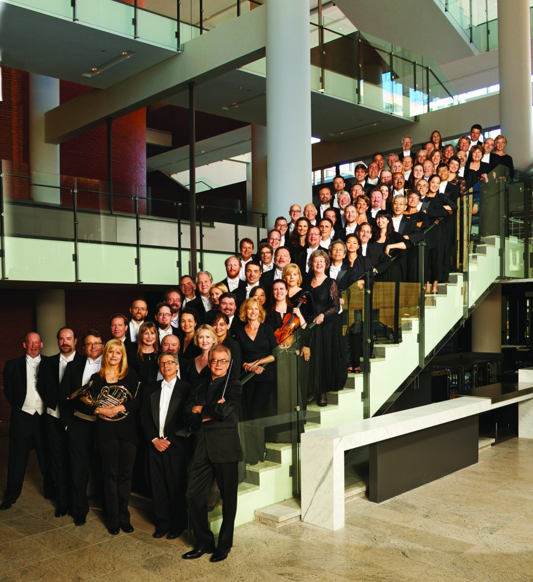 """Orchestra Stairs. Image by Jake Armour. Courtesy of <a href=""""http://www.minnesotaorchestra.org/"""" target=""""_blank"""">Minnesota Orchestra</a>"""