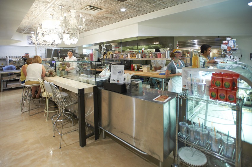 Angel Food Bakery Counter and Interior. Image by Jeremy Nelson/Greenspring Media