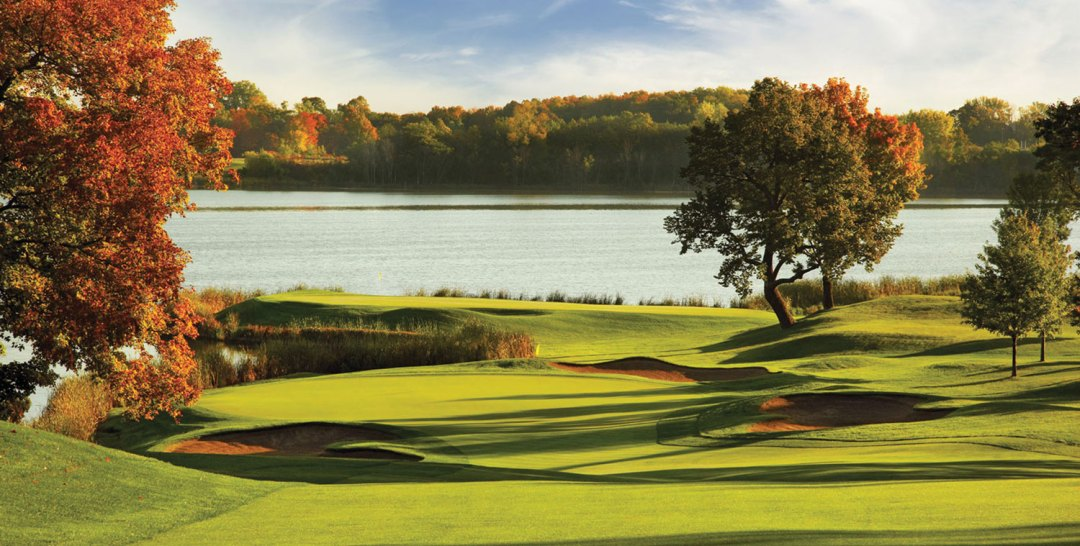Hazeltine golf course in Autumn.