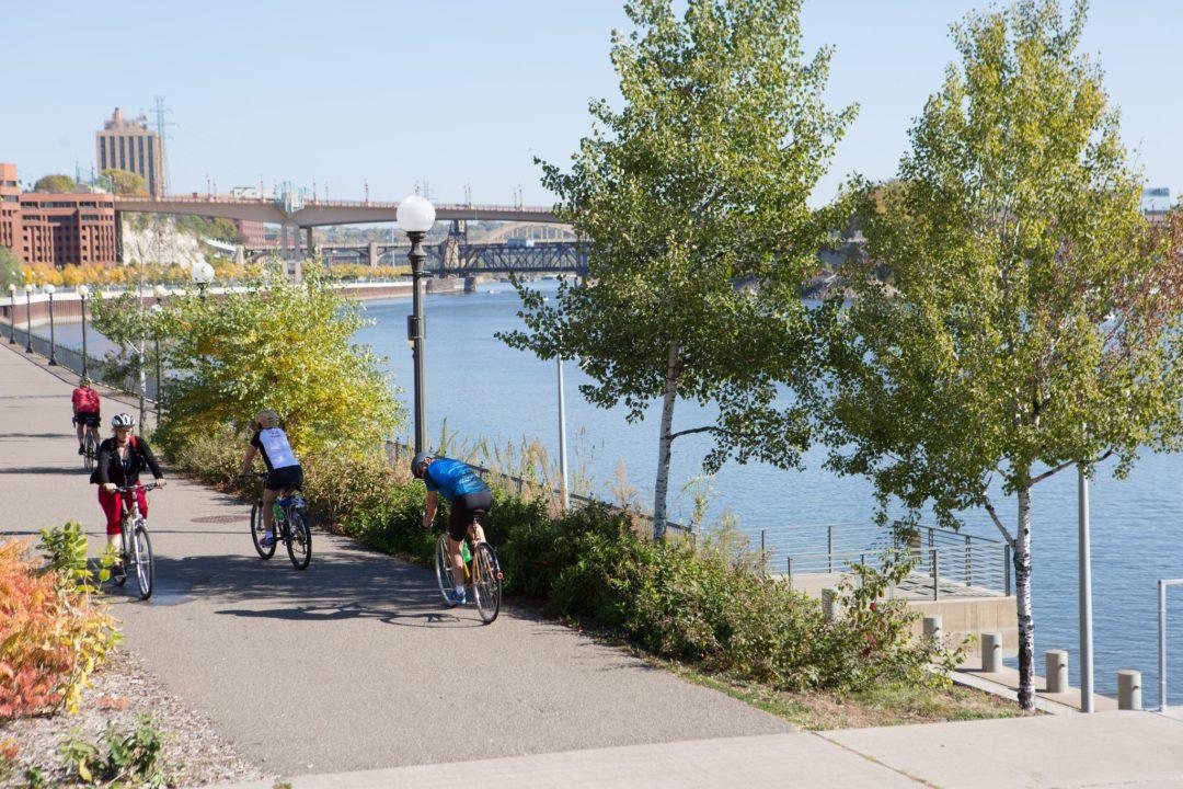 Bikers in St. Paul. Image by Erica Loeks/Greenspring Media