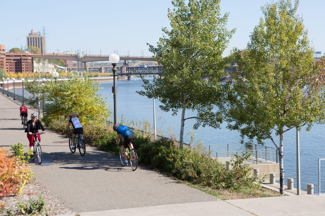 Bikers in St. Paul. Image by Erica Loeks/Greenspring Media
