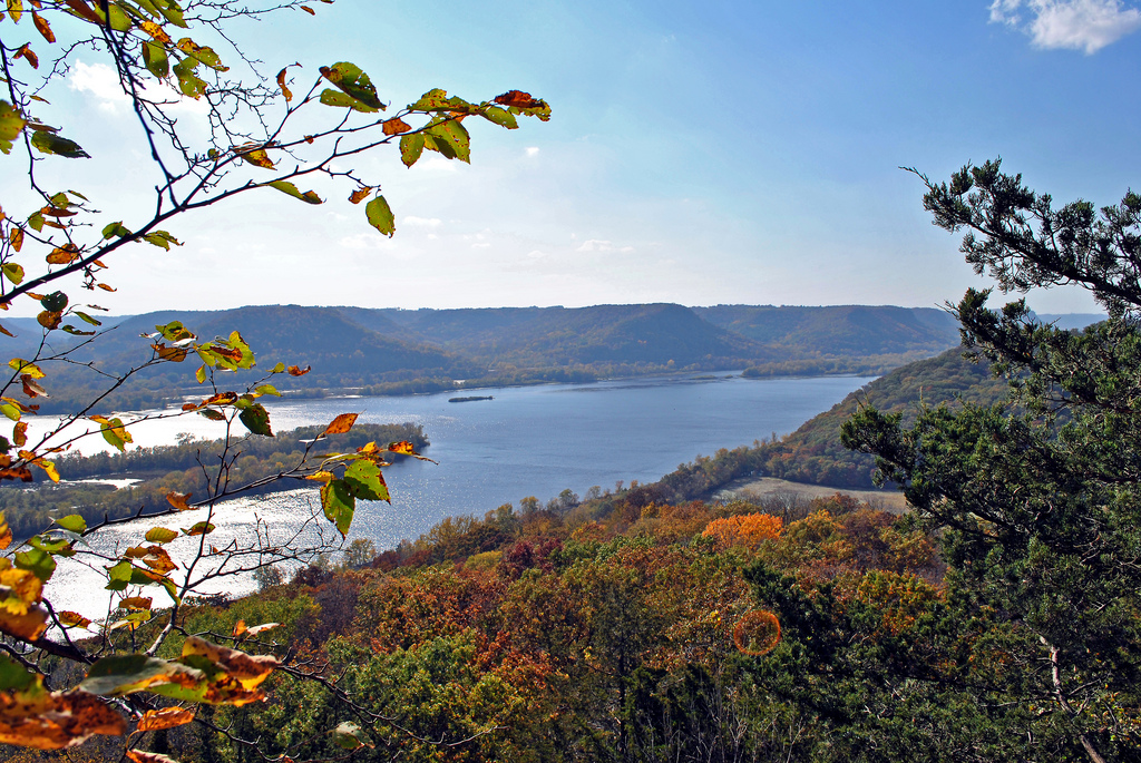 View from Brady's Bluff Trail at Perrot State Park.