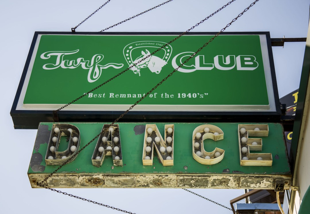 Turf Club sign