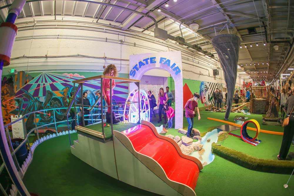 The mini golf course at Can Can Wonderland.