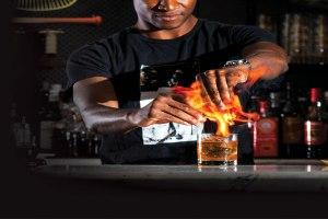 Bartender at Marvel Bar