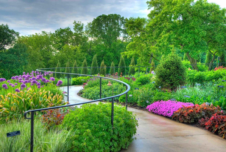 The summer annuals garden at the Minnesota Arboretum
