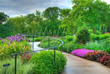 The summer annuals garden at the Minnesota Arboretum