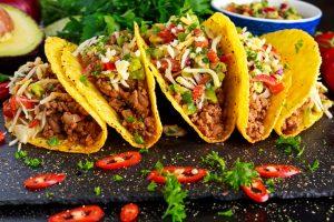 Tacos on a platter.   Lake Street Taco Tour