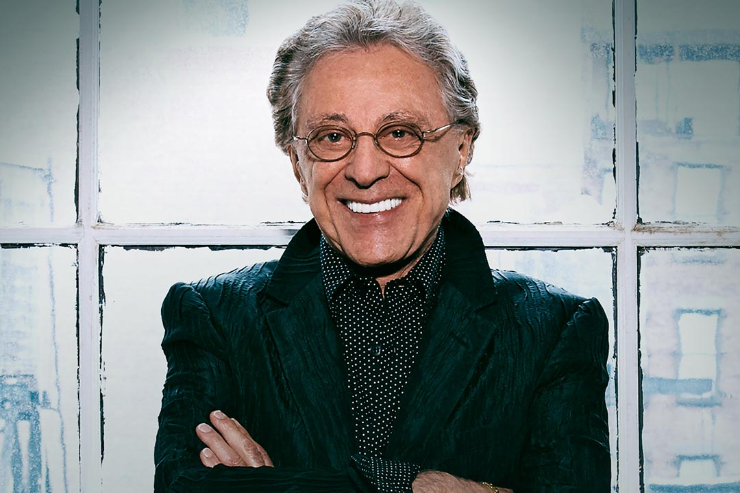 A portrait of Frankie Valli.