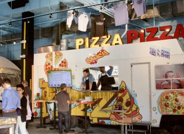 Pizza food truck at Seventh Street Truck Park