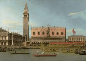 Canaletto, Italian, 1679-1768, The Bucintoro at the Molo on Ascension Day, c.1745. Oil on canvas