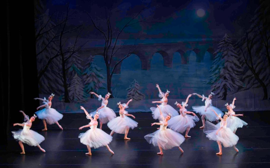 """Photo by Brianne Bland, courtesy of Twin Cities Ballet. Ballerinas take the stage in tutus for the holiday presentation of """"A Minnesota Nutcracker"""" by Twin Cities Ballet."""