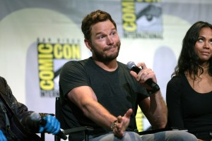 Photo of Chris Pratt during a panel
