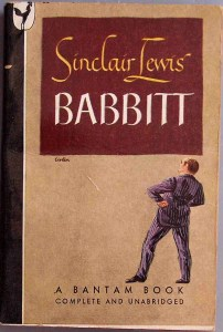 """Photo of the cover of the book """"Babbitt,"""" by Sinclair Lewis"""