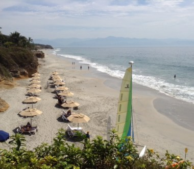 Beaches of Puerto Vallarta: Playa Destiladeras in Nayarit Mexico from Rancho Banderas Resort