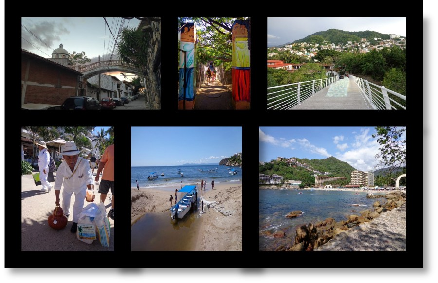 Lover's Arch, Hanging Bridge, Iguana Bridge, Concepcion Serving Tuba Water, Mismaloya. Puerto Vallarta Mexico