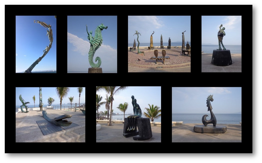 Malecon Sculptures in Puerto Vallarta Mexico