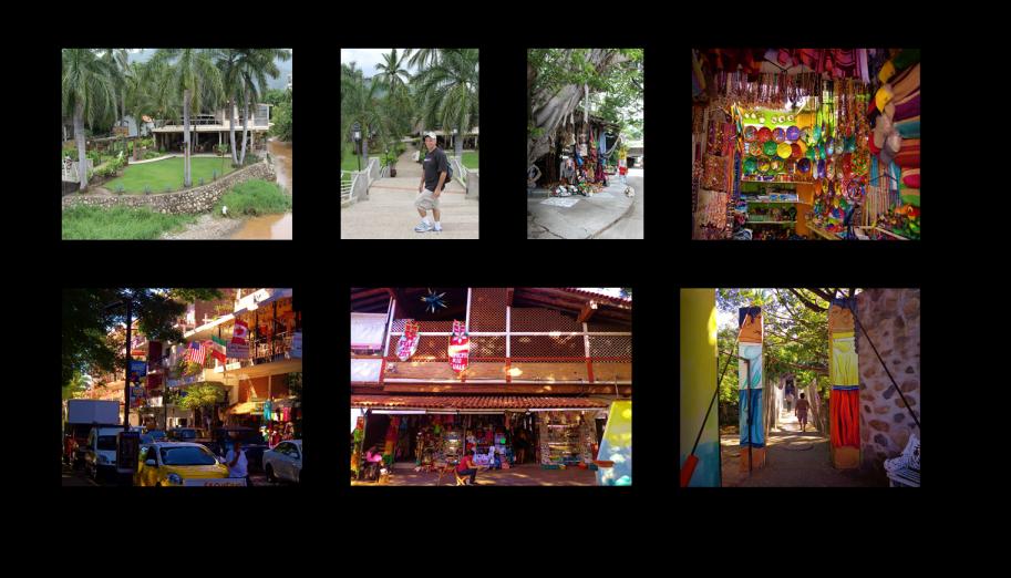 Isla Rio Cuale Flea Market and Hanging Bridge in Puerto Vallarta Mexico