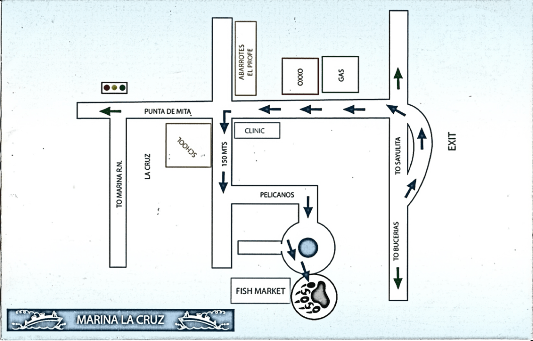 Directions to La Cruz Fish Market
