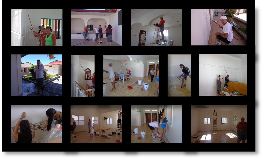 Tourist Volunteer Painting Day at Casa Hogar in Puerto Vallarta, Mexico