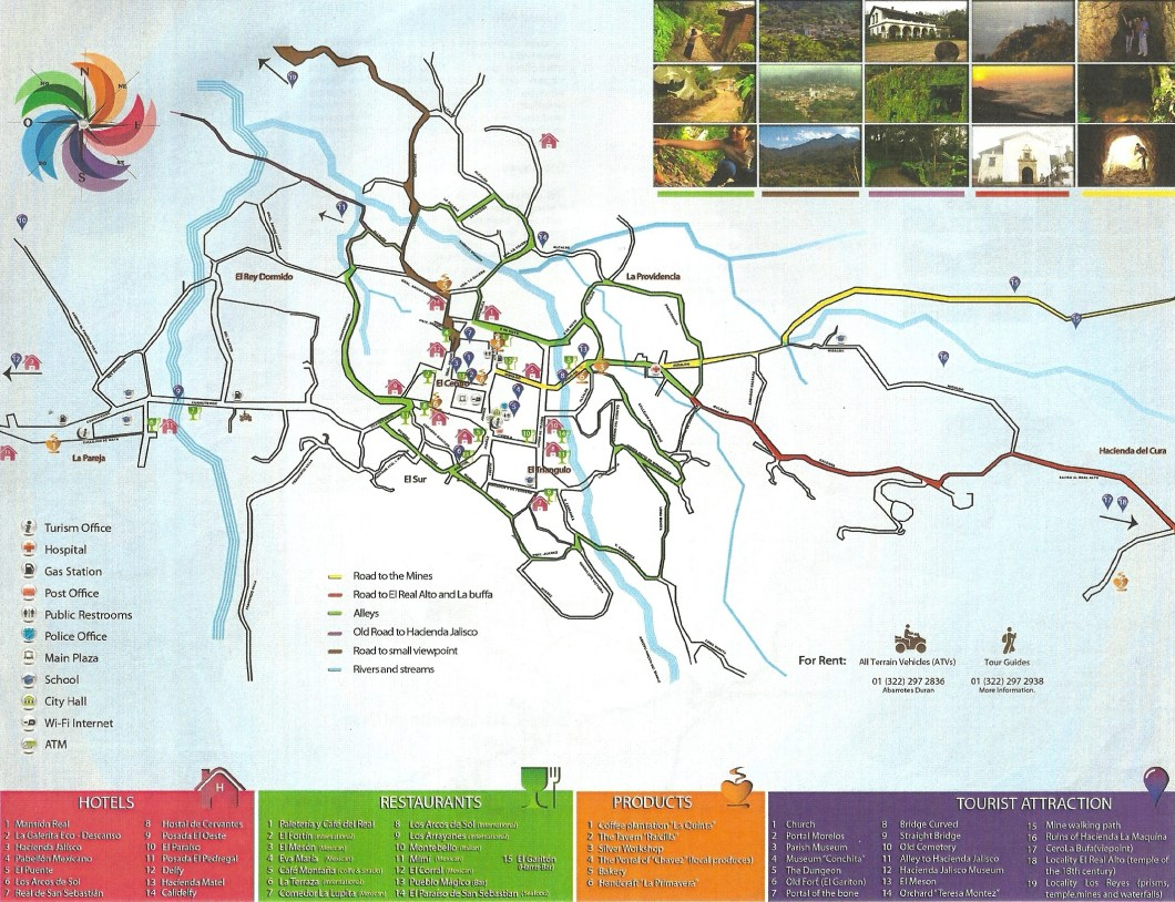 Map of San Sebastian del Oeste Mexico