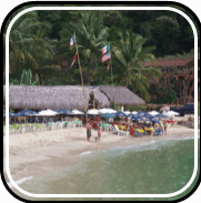 Picture linking to Boca de Tomatlan beach information.