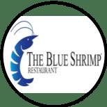 Logo for The Blue Shrimp Restaurant in Nuevo Vallarta