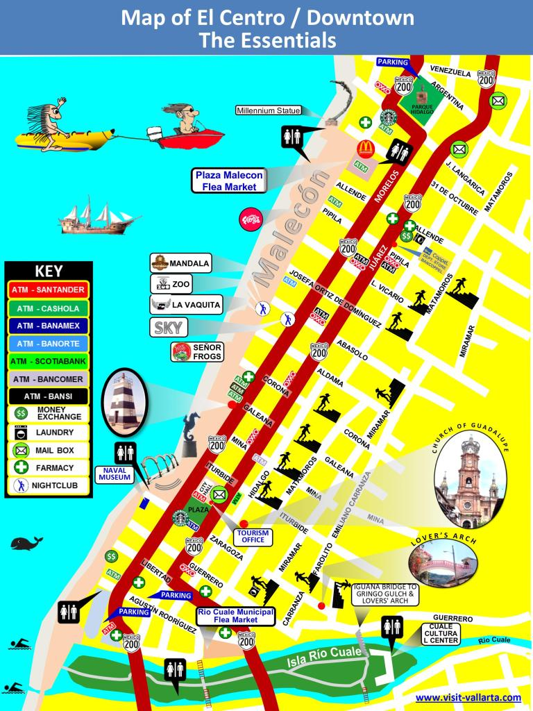 This is a map of the south side of downtown Puerto Vallarta in jpeg format