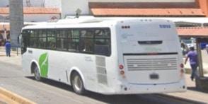 Picture of a white UNIBUSPV bus in Puerto Vallarta