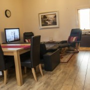 Open plan design in self catering rental