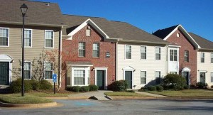 Townhome example - poorly constructed ramp and no side entrance