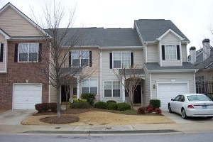Townhome example 2 - townhomes with zero step entrance
