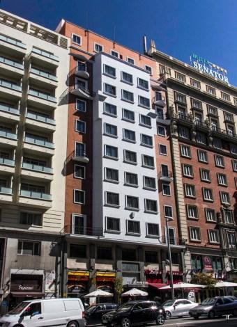 Hotel Washington, Gran Vía 72 (1952-1954), de Enrique Colás Hontán, ...