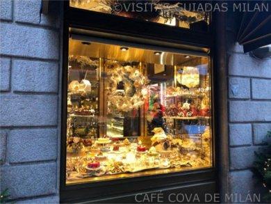 Escaparate Café Cova de Milán