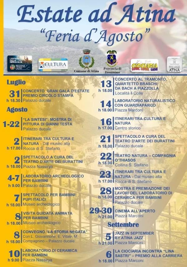 programma estate 2020 Atina