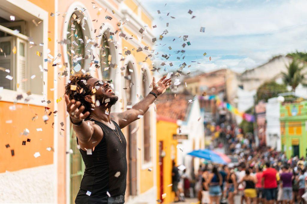 Street Carnival in Olinda, on the (Ladeira da Misericórdia), Pernambuco state, Brazil.